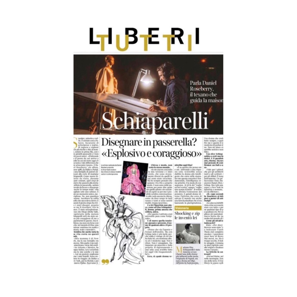 SCHIAPARELLI ON CORRIERE - AUGUST 2019