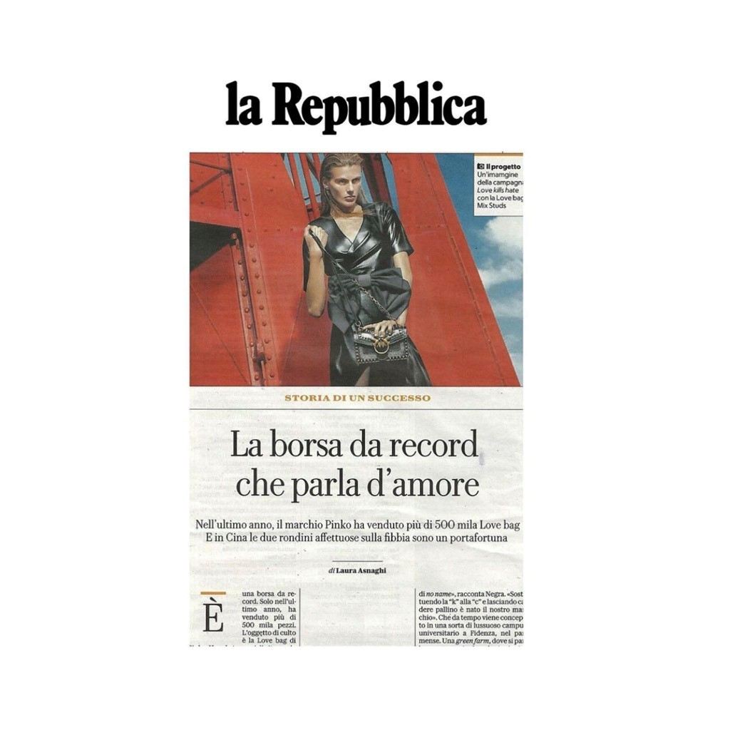 PINKO ON LA REPUBBLICA - SEPTEMBER 2019