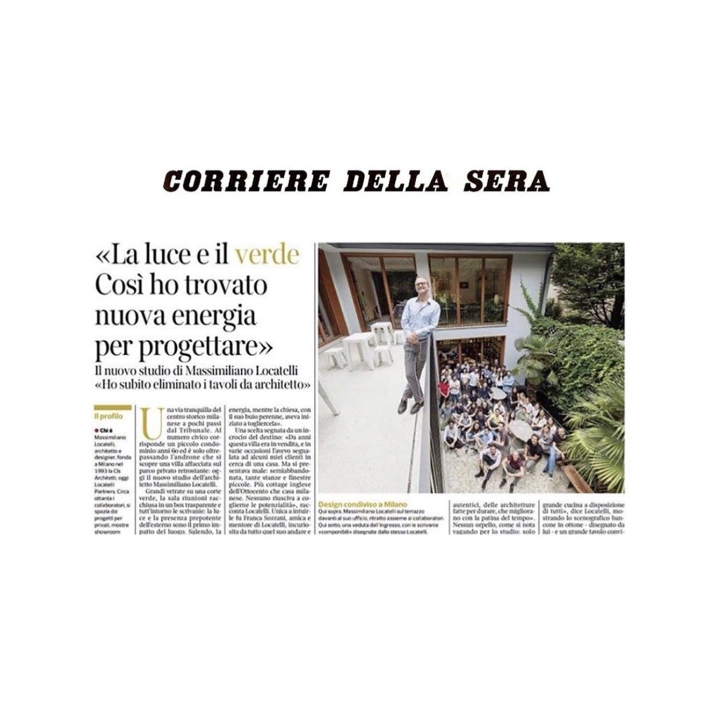 MASSIMILIANO LOCATELLI ON CORRIERE DELLA SERA - SEPTEMBER 2019