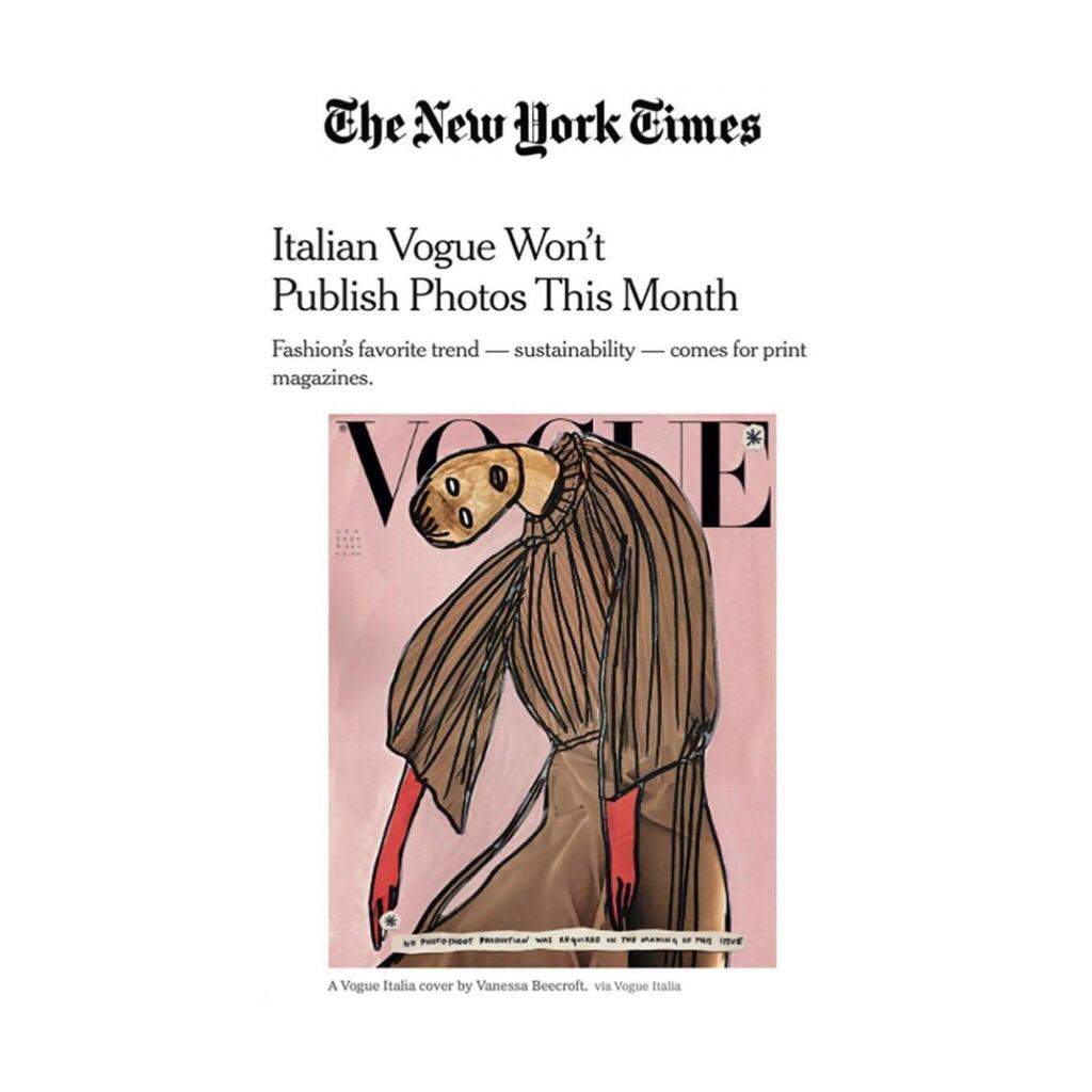 VOGUE ITALIA ON NEW YORK TIMES - January 2020