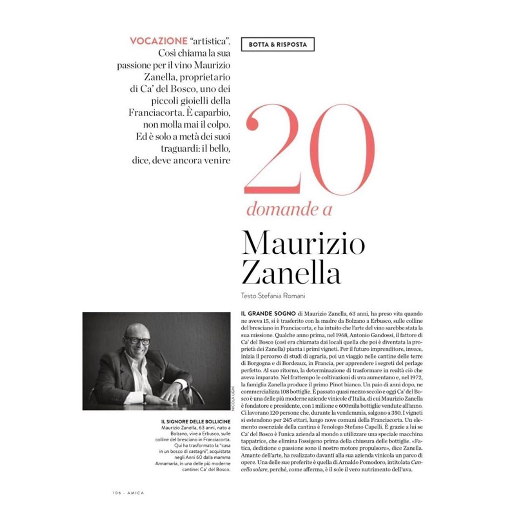 Ca del Bosco on Amica Magazine - June 2020