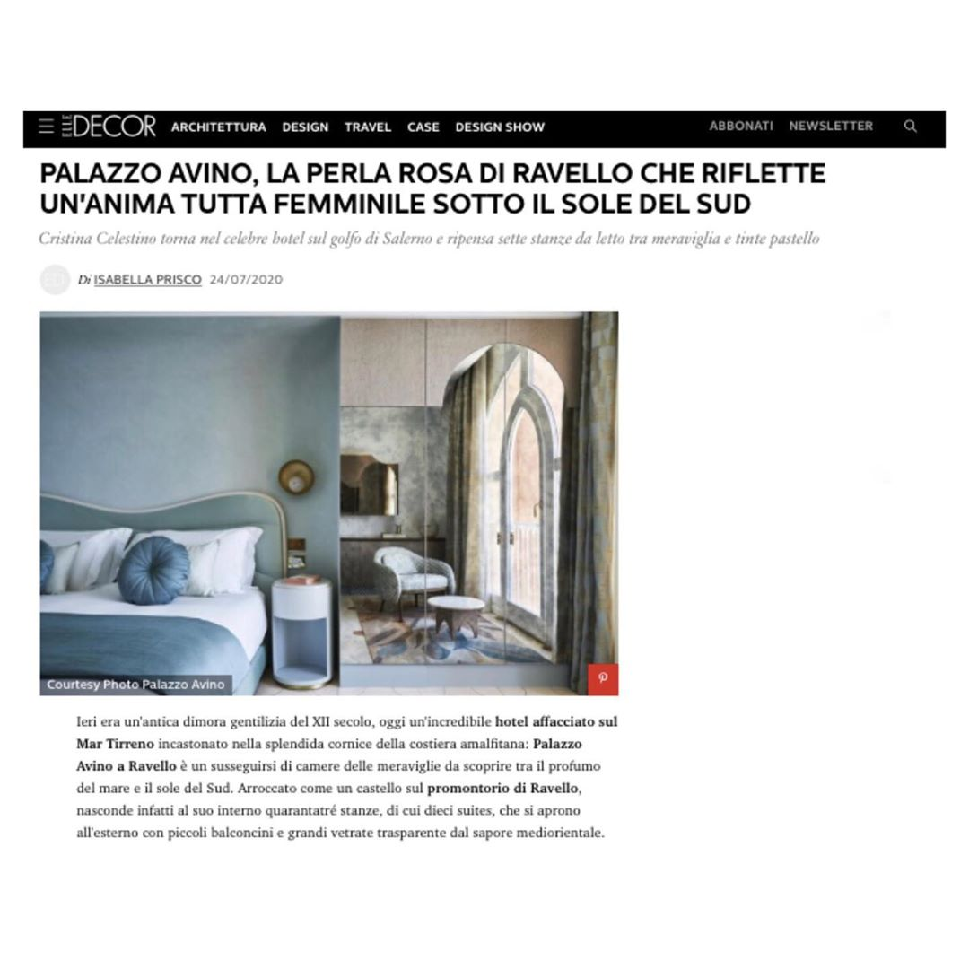 Palazzo Avino on Elle Decor - July 2020